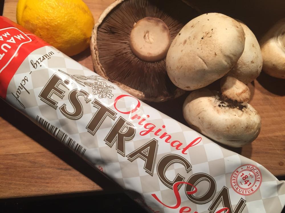 Mushrooms, lemons and mustard